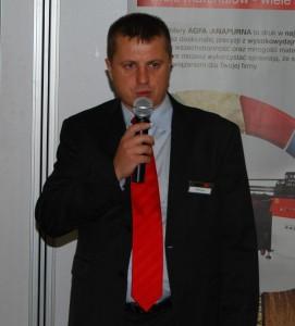 Konferencję otworzył Michał Śliz - dyrektor zarządzający polskiego oddziału Agfa Graphics