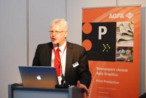 Andy Grant przedstawił najnowsze propozycje Agfa Graphics w zakresie oprogramowania dla wydawnictw i drukarń prasowych